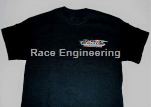 RACE ENGINEERING: BLACK TEE SHIRT MEDIUM ALL COTTON